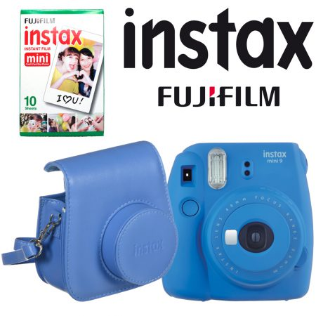 Fujifilm instax mini 9 Instant Film Camera with Instant Film and Case Kit (Cobalt Blue)4