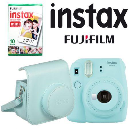Fujifilm instax mini 9 Instant Film Camera with Instant Film and Case Kit (Ice Blue)4