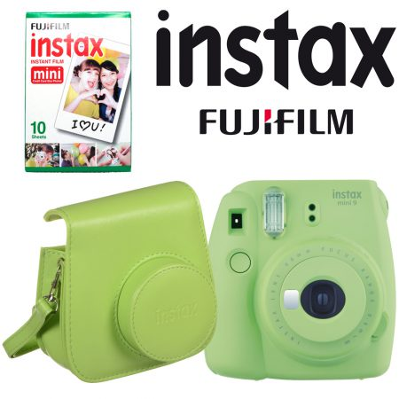 Fujifilm instax mini 9 Instant Film Camera with Instant Film and Case Kit (Lime Green)4