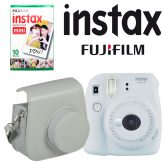 Fujifilm instax mini 9 Instant Film Camera with Instant Film and Case Kit (Smokey White)4