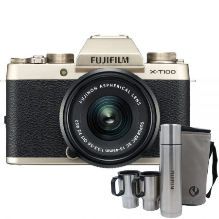Fujifilm-X-T100-Mirrorless-With-15-45mm-Lens-Champagne-Gold1