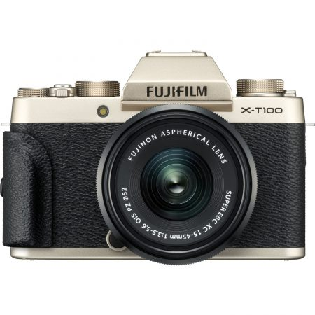 Fujifilm X-T100 Mirrorless With 15-45mm Lens (Champagne Gold)7
