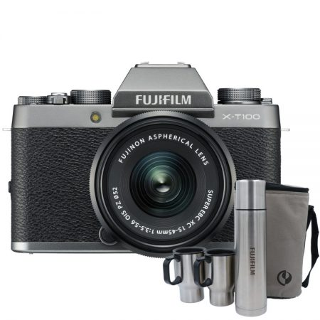 Fujifilm-X-T100-Mirrorless-With-15-45mm-Lens-Dark-Silver-1
