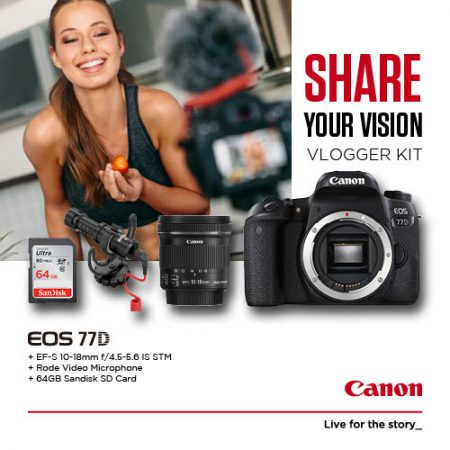 Canon 77D Vlogger Kit – Cameraland Sandton