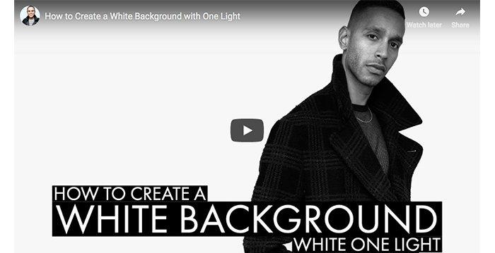 How to Create a White Background When Shooting With Only One Light - Cameraland Sandton