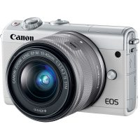 Canon EOS M100 (White) Mirrorless Digital Camera with 15-45mm Lens - Cameraland Sandton