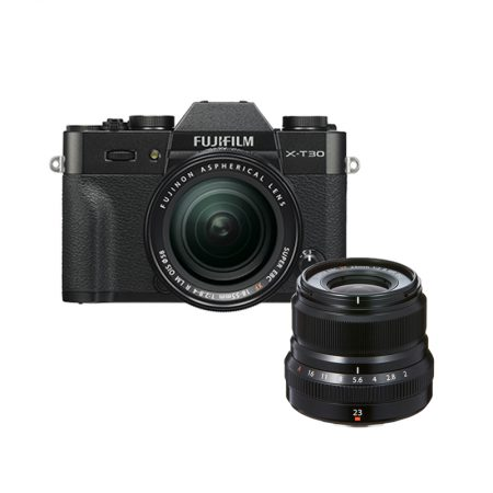 FUJIFILM X-T30 With 18-55mm Lens + XF 23mm f2 (March Madness Promo) – Cameraland Sandton