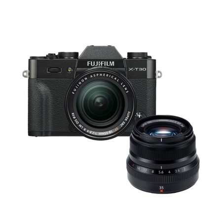 FUJIFILM X-T30 with 18-55mm Lens + XF 35mm f2 (March Madness Promo) – Cameraland Sandton