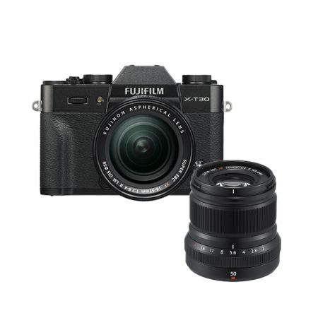 FUJIFILM X-T30 with 18-55mm Lens + XF 50mm f2 (March Madness Promo) – Cameraland Sandton