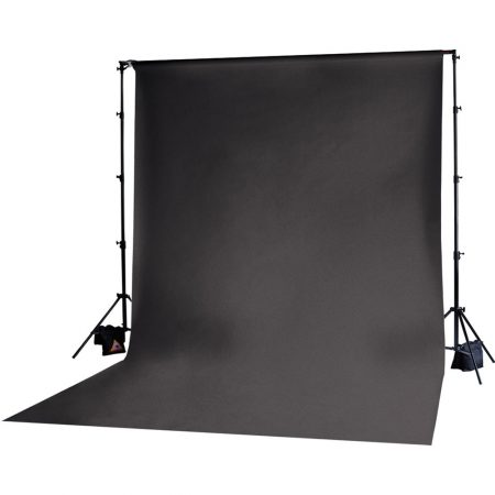Backdrop Stand With 3x6m Muslin Backdrop (Black) | Cameraland Sandton