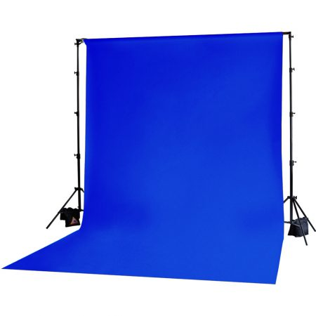 Backdrop Stand With 3x6m Muslin Backdrop (Blue)