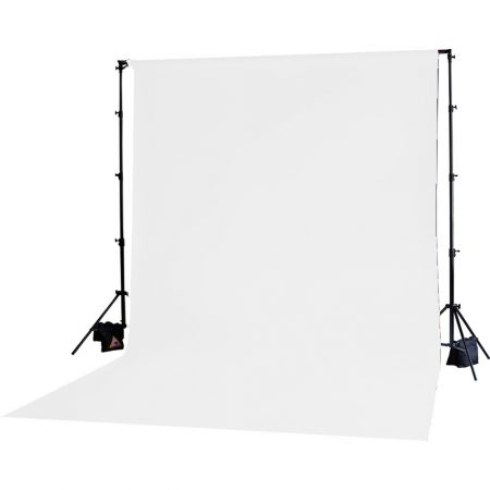 Backdrop Stand With 3x6m Muslin Backdrop (White)