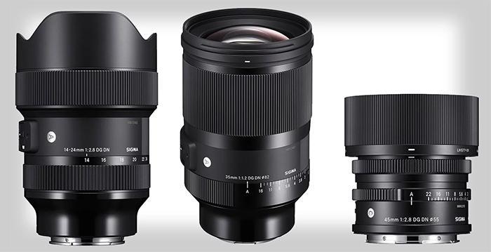 Sigma Debuts 3 Full-Frame Mirrorless Lenses
