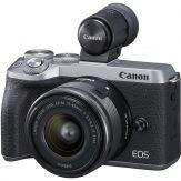 Canon M6 Mark II + 15-45mm & EVF-DC2 (Silver)   Cameraland Sandton