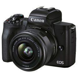 Canon EOS M50 Mark II Mirrorless Digital Camera with 15-45mm Lens (Black) | Cameraland Sandton