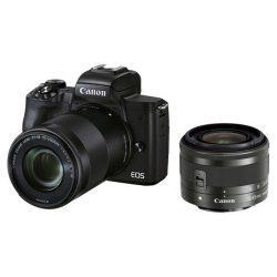Canon EOS M50 Mark II Mirrorless Digital Camera with 15-45mm and 55-200mm Lenses (Black) | Cameraland Sandton