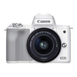 Canon EOS M50 Mark II Mirrorless Digital Camera with 15-45mm Lens (White) | Cameraland Sandton