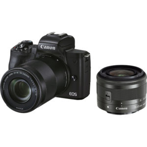 Canon EOS M50 Mark II with 15-45mm + 55-200mm lens