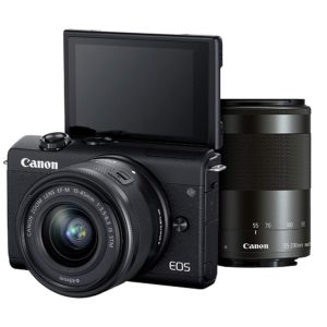 Canon EOS M200 + 15-45mm and 55-200mm Lens