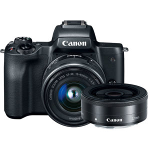Canon EOS M50 with 15-45mm + 22mm Lens