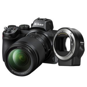 Nikon Z5 Mirrorless with 24-200mm lens, FTZ Adapter, and SD Card